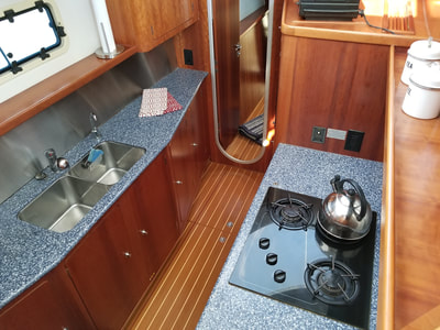 Antares Sailboat galley